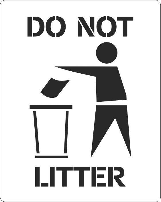 Do Not Litter Stencil