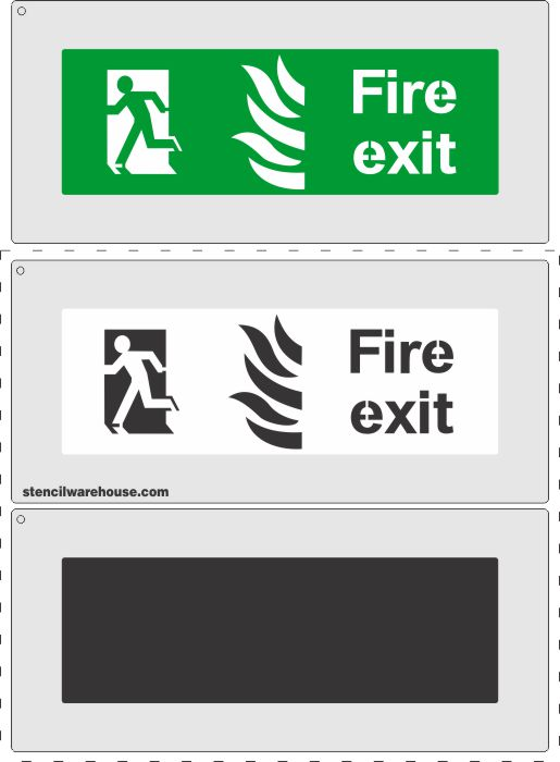 Fire Exit sign for over an escape route / exit
