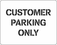 Customer Parking car park stencil