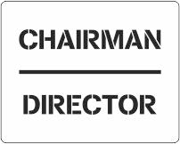 Car parking stencil for Chairman or Director