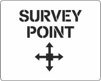 Survey Point marker stencil