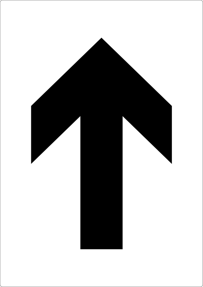 Forward Arrow Stencil