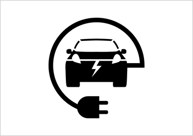 Electric Car Charging stencil
