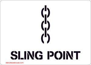 Sling Point Stencil