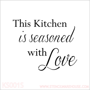 Seasoned with love kitchen or restaurant stencil
