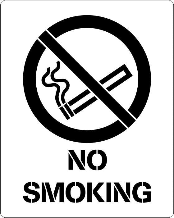 No Smoking symbol stencil