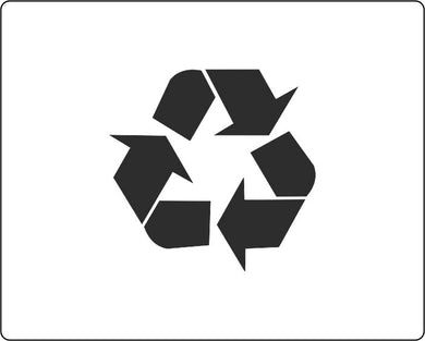 Recycling Logo Stencil