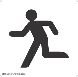 Running Man Floor Stencil
