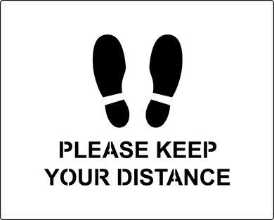 Please Keep Your Distance social distancing stencil