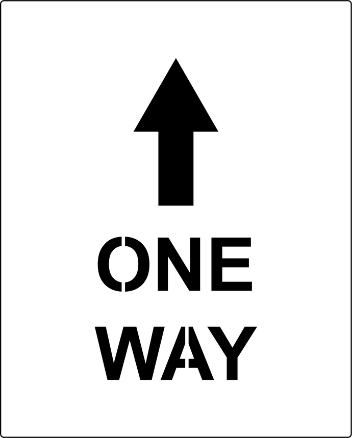 One Way social distancing stencil