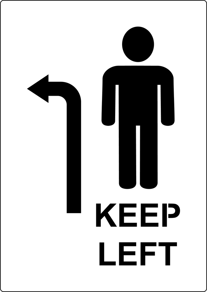 Keep Left social distancing stencil