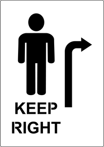 Keep right stencil for Social Distancing marking