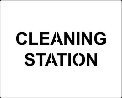 Cleaning station social distancing stencil