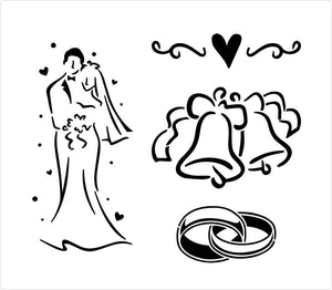 Wedding stencil designs