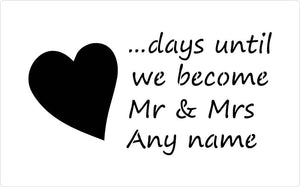 Countdown the days wedding stencil