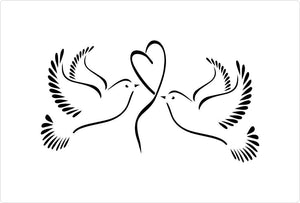 Wedding Doves Stencil
