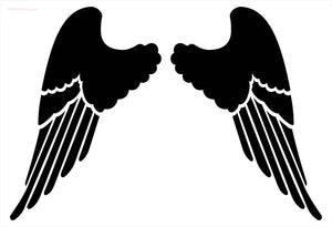 Large Wings Stencil