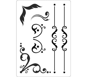 Decorative borders stencil for bar menus