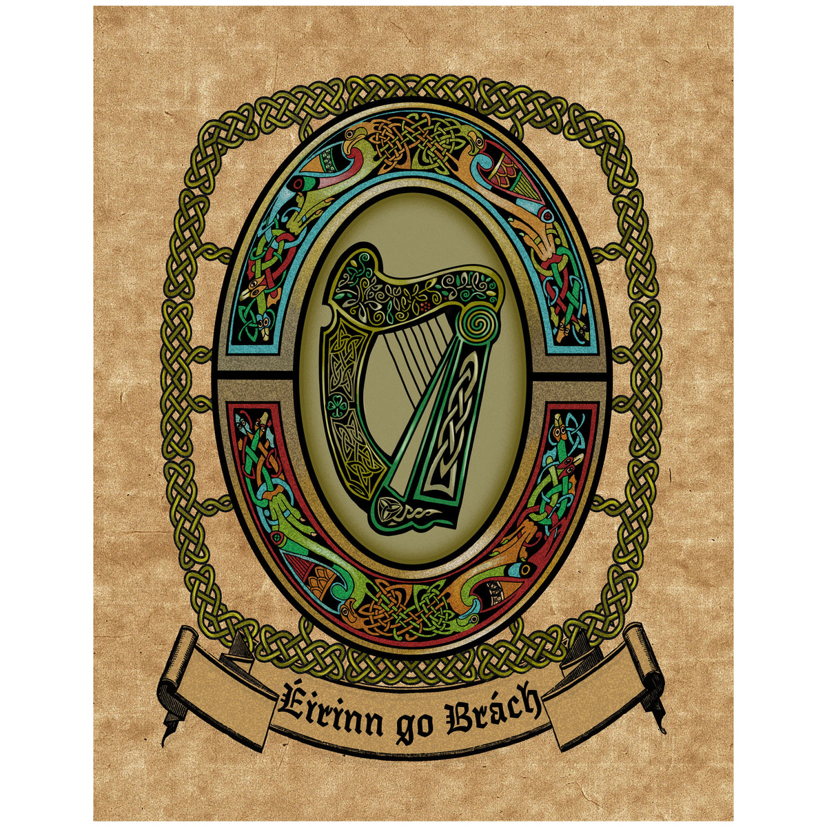 The Harp National Emblem Of Ireland Bealtaine Fire