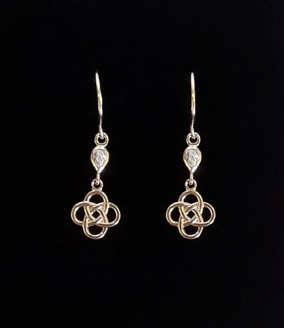 9Ct Gold Celtic Knot Earrings Plain Box Jewellery