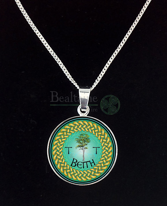 1. Silver Beith - Birch-Dec 24 To Jan 20 Green Pendant