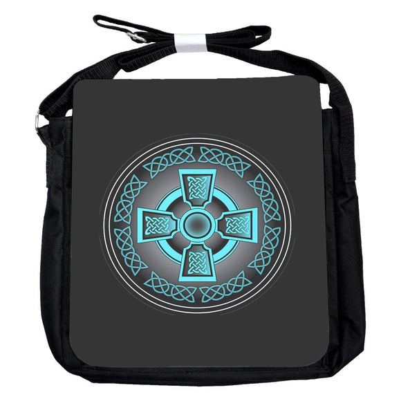 Small Celtic Cross Blue Bag
