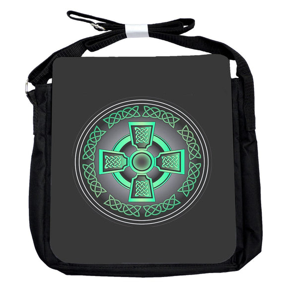 Small Celtic Cross Green Bag