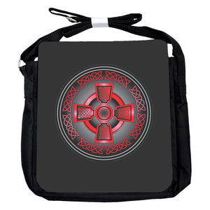 Small Celtic Cross Red Bag
