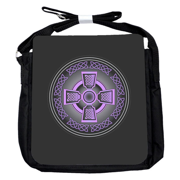 Small Celtic Cross Purple Bag