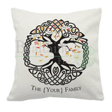 Personalised Celtic Family Tree Cushion Cover