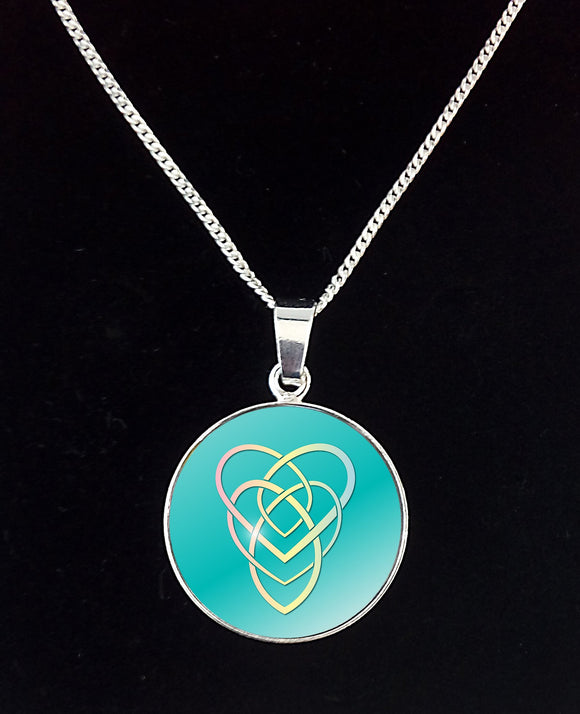 Silver Celtic Mother Knot (3 Colours) Pendant