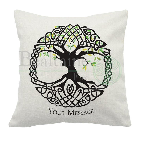 Personal Message Spring Tree Of Life Cushion Cover