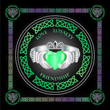 Claddagh Ring (5 Colours) 8In / Green Print