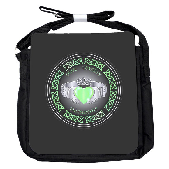 Small Claddagh Ring Green Bag