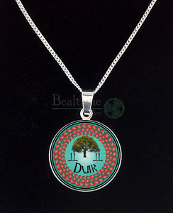 7. Silver Duir - Oak Jun 10 To Jul Turquoise Pendant