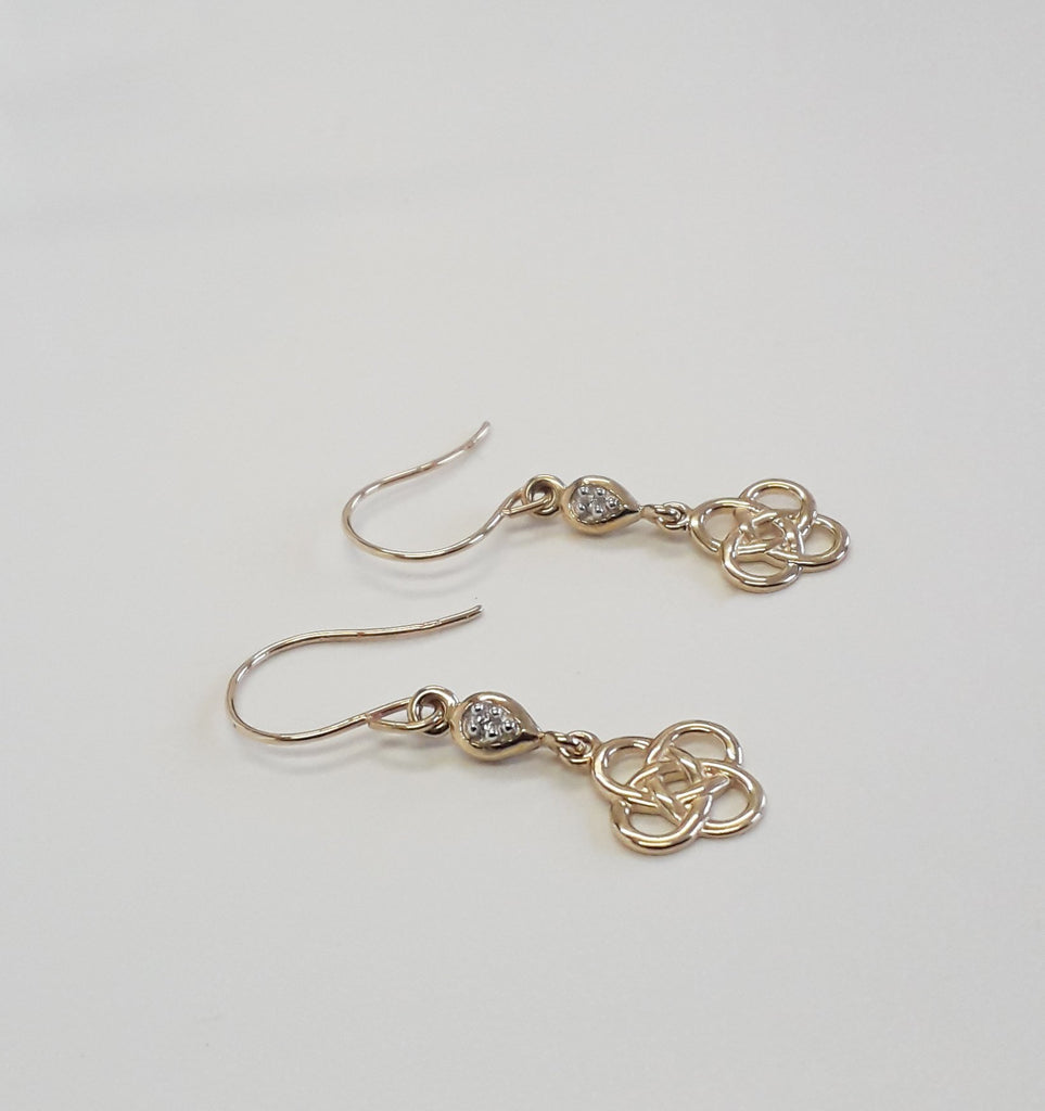 steel knot celtic img knots stud surgical silver products earrings sterling citrine