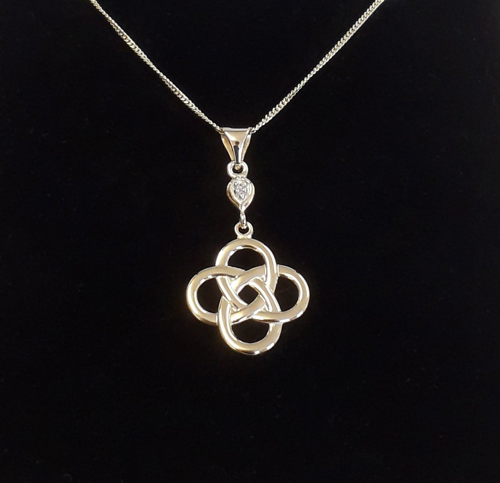 9ct gold celtic knot pendant bealtaine fire 9ct gold celtic knot pendant audiocablefo