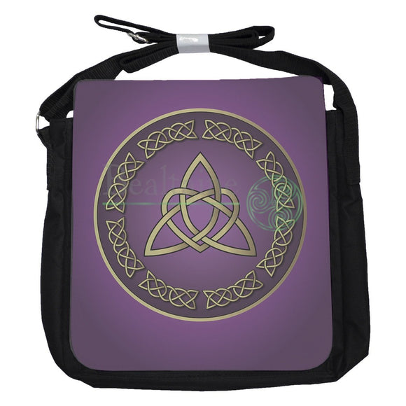 Small Heart Triquetra Purple Bag