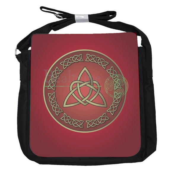 Small Heart Triquetra Red Bag