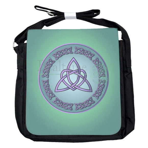 Small Heart Triquetra Turquoise Bag