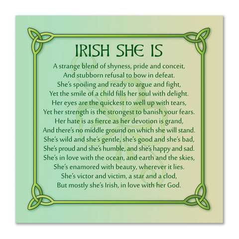 Irish She Is Premium Luster Unframed Print