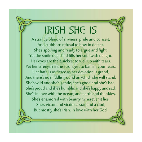 Irish She Is on Canvas 12x12in