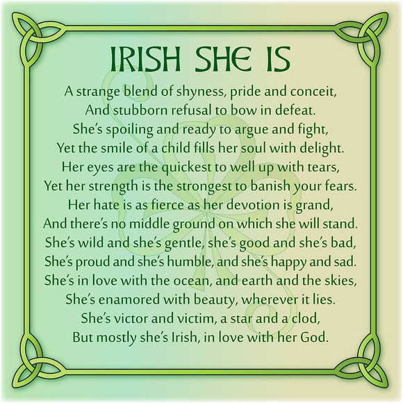 Irish She Is 8In Print
