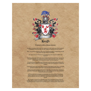 Keogh Coat of Arms Premium Luster Unframed Print