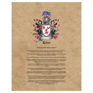 Kehoe Coat of Arms Premium Luster Unframed Print