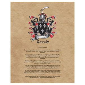 Kennedy Coat of Arms Premium Luster Unframed Print