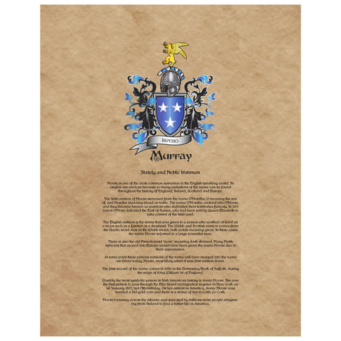Murray Coat of Arms Premium Luster Unframed Print