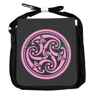 Small Triple Spiral Pink Bag