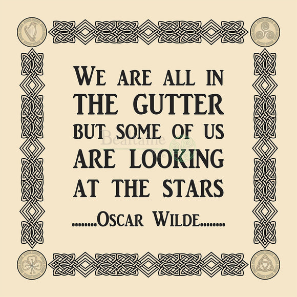 Looking At The Stars - Oscar Wilde (4 Colours) 8In / Cream Print