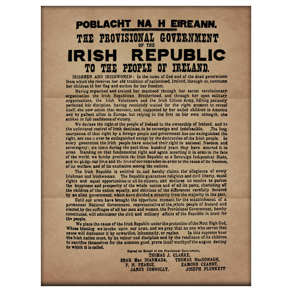 Proclamation of the Irish Republic Premium Luster Unframed Print